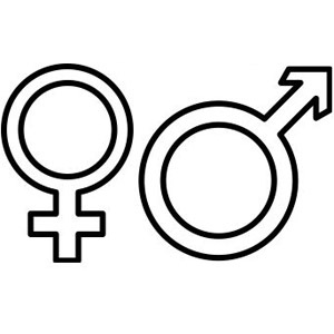 how to make male and female symbols in word